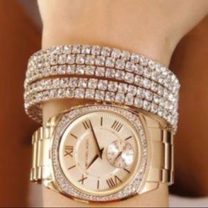 Bryn Gold Tone Stainless Steel Bracelet Watch 40mm